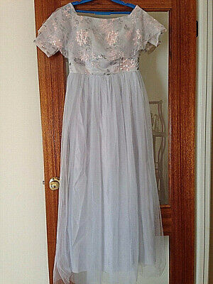 Bridesmaid debutante dress Sz 8 NEW soft blue, newly tailored never worn!!
