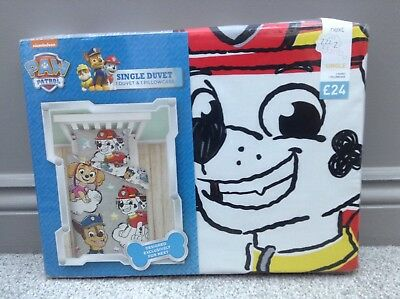 NEW NEXT Paw Patrol Marshall Chase Single Duvet Bedset Bedding Bedroom RRP £24