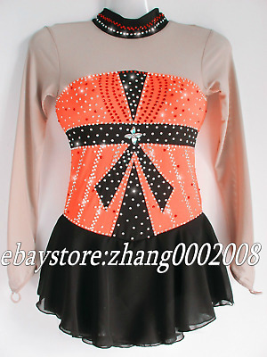 Sparkles Ice skating dress.Competition Ice figure skating.Twirling Dance costume