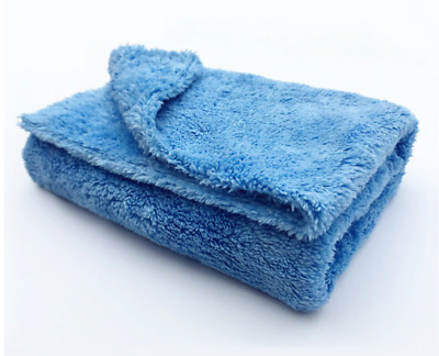 40X40CM 450GSM Premium Korean Microfiber Car Detailing Towel Soft Edgeless Blue