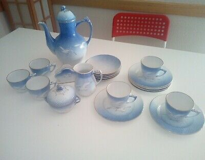 b&g Bing And Grondahl Porcelain teapot cups mugs plates bowl complete set of