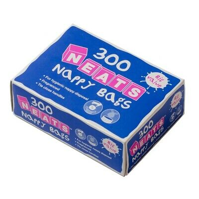 6 Boxes (1800) Nappy Sacks Bags Disposable Scented Fragranced with Tie Handles