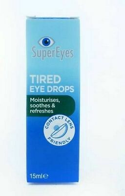 Supereyes Tired Eye Drops 15Ml Moisturises Soothes & Refreshes