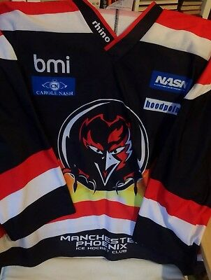 Manchester Phoenix Adult XL Ice Hockey Shirt Rhino Jersey Vintage Top EHL 5fb1710ce