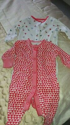 2 Baby Girls Baby Grows Next / John Lewis. 1 First Size  ( 7.8 Lbs)  1 (9 Lbs)