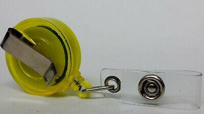 QUALITY YELLOW YOYO BADGE REEL retractable recoil carabiner clip lanyard reel