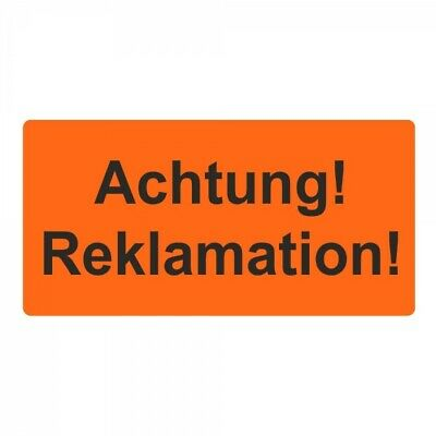 """Shipping Labels/Warning Label """" Attention! Reclamation. !"""" 30 x 62 mm - 1000"""