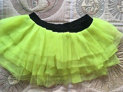 be5ca91777 Claire's Neon Layered Tutu Skirt S/M 8-10 Yellow & Black Elasticated Waist