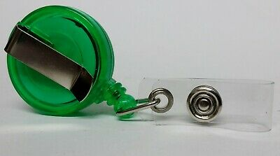 QUALITY GREEN YOYO BADGE REEL retractable recoil carabiner clip lanyard reel