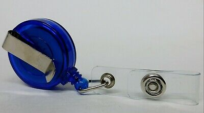 QUALITY BLUE YOYO BADGE REEL retractable recoil carabiner clip lanyard reel