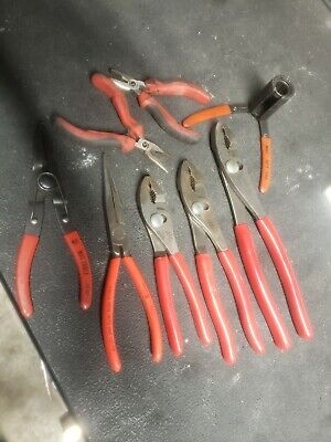 MAC tools 8pc plier set slip joint, speciality needle nose are matco ready to wo
