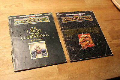 FOR1 Draconomicon & FOR2 The Drow of the Underdark (AD&D 2nd Forgotten Realms)