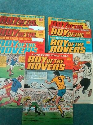 roy of the rovers comics 1984 and 1985