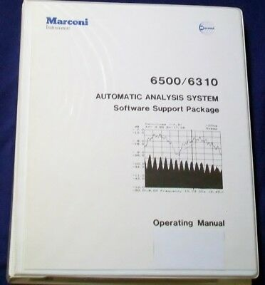 AEROFLEX MARCONI 6500/6310 AUTOMATIC ANALYSIS software support package, 4 disks