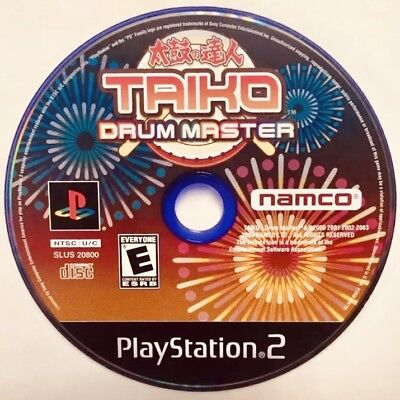Taiko Drum Master PS2 Disc Only - Tested Working Free Ship Sony Playstation 2