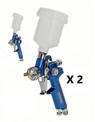 2 x FMT3600 Mini HVLP Gravity Feed Spray Gun 1.0mm Solvent / Water SMART Repair