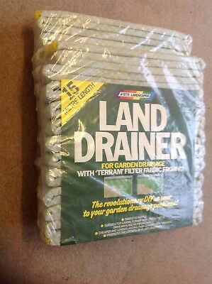 Land Drainer For Garden Drainage With Terram Filter Fabric 2 X 15 Metre Length