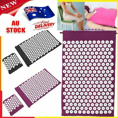Acupressure Massage Pillow Mat Yoga Bed Pilates Nail Needle Pressure Shakti NeS1