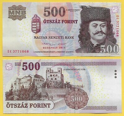 Hungary 500 Forint p-196e 2013 UNC Banknote