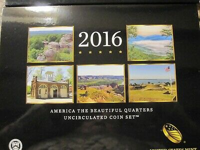 2016 P&D US Mint America the Beautiful Uncirculated 10 Coin Quarter Set Key Date