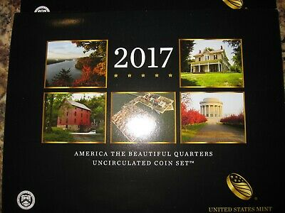 2017 P & D US Mint America the Beautiful Uncirculated 10 Coin Quarter Set 17AA
