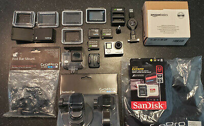 GoPro HERO 4 - Silver - WITH MANY ACCESSORIES