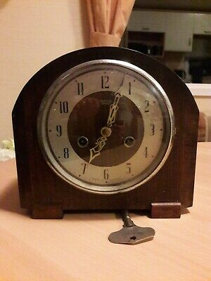 Smiths Enfield Mantle Clock Working Order.