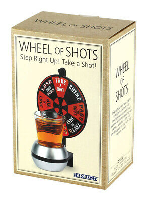 Barbuzzo  Wheel Of Shots  Adult Beverage Game  Plastic  1 pk
