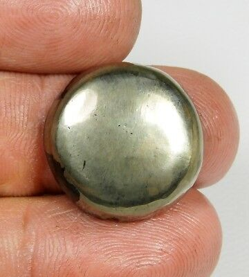 24 Ct Pendant Size Natural Apache Gold Pyrite Round Cabochon Loose Gemstone B319