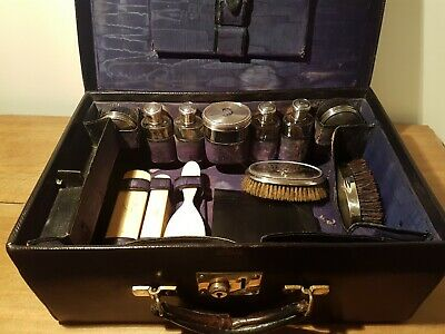 Antique / vintage Goyard travel case / vanity set / Nécessaire de toilette