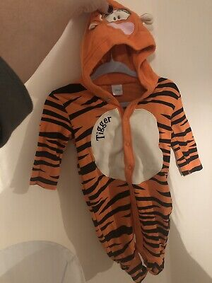 Baby Boy Girl Tiger Hooded Romper Jumpsuit Clothes Outfit 0-3 Months