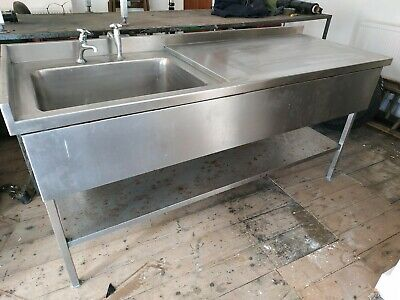 Stainless Steel single Sink  183cm x 69cm