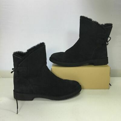 b79da4782ad UGG NAIYAH Lace-Back Genuine Shearling Boot Solid Chestnut 1016850 ...