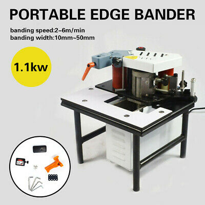 220V PORTABLE EDGE Bander Double Glue Manual Woodworking Banding Machine