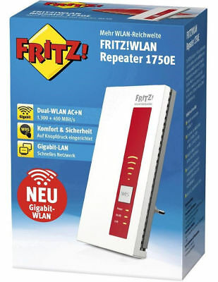 AVM 20002686 FRITZ!WLAN Repeater 1750E Wireless Range Extender NEU OVP