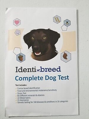 Identi Breed Complete Dog Test for DNA, Genetic Condition, Food Intolerance