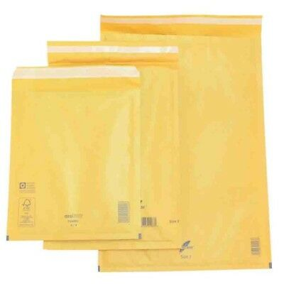 arofol size 4 D1 100 bubble envelopes gold/brown 180mm x 265mm padded mail lite