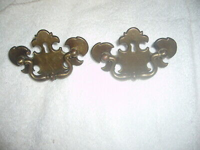 Lot Of 2 Keeler Brass Co. Vintage Chippendale Style Keyhole Drawer Pulls N5258