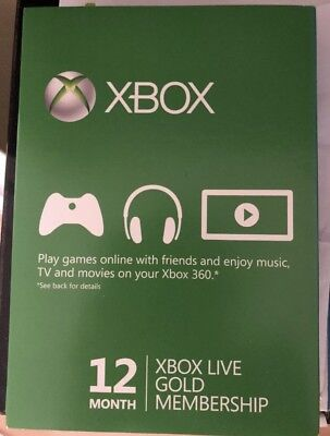 MICROSOFT Xbox Live Gold Membership 12 Month Subscription Card