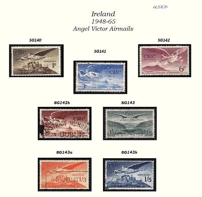 IRELAND (1948-1965) – USED ANGEL AIRMAILS SG140- 143a FULL SET