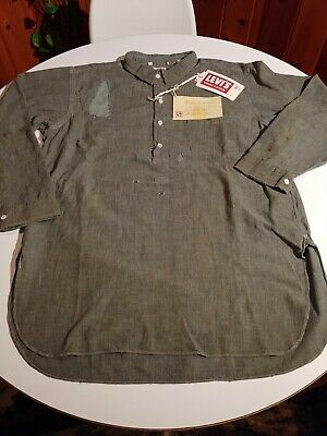 LVC 1920s Sunset Chambray Distressed Popover Men's L $485 NWT Old West