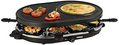 ORIGINAL Princess Party Raclette avec 8 Ovale Grille Noir * Top Quality *