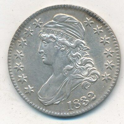 1832 Capped Bust Silver Half Dollar-Large Letters-Great Details!! Free Ship-Inv3