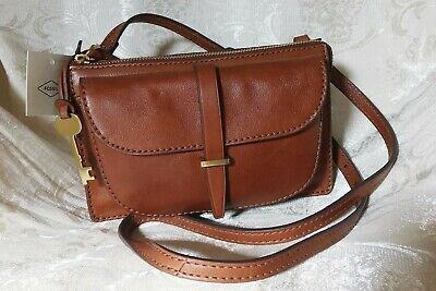 b9dadee7ad NEW FOSSIL RYDER Small Crossbody Leather Bag