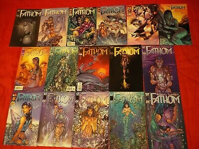 BIG Fathom 0 1-12 Swimsuit 2000 Michael Turner Top Cow Image variant variants