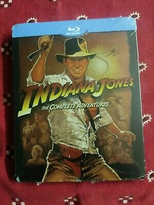 INDIANA JONES 4-Movie Complete Adventures Collection BluRay STEELBOOK Import NU