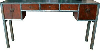 Antique Chinese Console Table/Hall Table -Painted Flora (28-028)