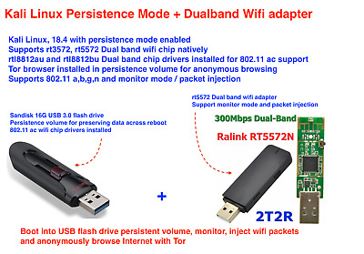USB WIFI ADAPTER Kali Linux Backtrack Compatible Hacking Wireless