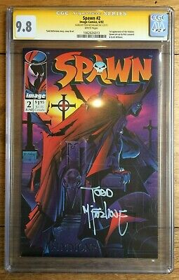 Spawn #2 Signed by Todd McFarlane 1st Appearance of Violator CGC SS 9.8