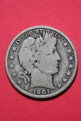 1901 P Barber Liberty Half Dollar Exact Coin Pictured Flat Rate Shipping OCE 530